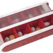 Schine Pill Box, liten, röd